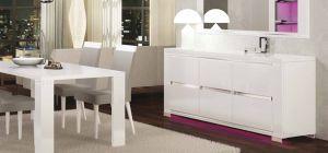 Elegance Diamond White Three Door Buffet Cabinet Sideboard Assembled