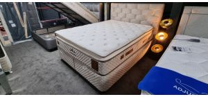 Magnesia Bed Set King 5FT Full Orthopaedic High Density Foam Knitted Fabric With Ottoman Storage Ex-Display Showroom Model