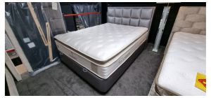 Luxury Bed Set King 5FT Full Orthopaedic High Density Foam Knitted Fabirc With Ottoman Storage Ex-Display Showroom Model
