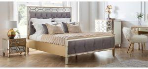 Elegance  Bed Frame King 5FT Mirrored
