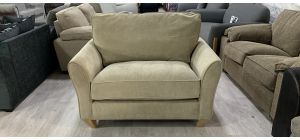 Fabric Armchair 1 Seater Beige Loveseat Ex-Display Showroom Model Ex-Brighthouse Stock 46563