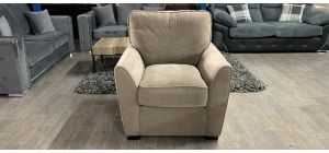 Fabric Armchair 1 Seater Beige Ex-Display Showroom Model Ex-Brighthouse Stock 46531