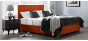 Berlin Bed Frame King 5FT Apricot With Side Ottoman Storage