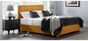 Berlin Bed Frame King 5FT Gold With Side Ottoman Storage