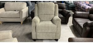 Fabric Armchair 1 Seater Beige Ex-Display Showroom Model Ex-Brighthouse Stock 46547