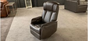 Leather Armchair 1 Seater Brown Electric Recliner Rocker Swivel Chair Showroom Model