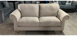 Fabric Sofa 3 Seater Cream Ex-Display Showroom Model Ex-Brighthouse Stock 46530