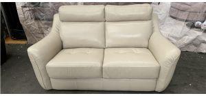 Cream Sisi Italia Semi Aniline Leather Sofa 2 Seater 46503