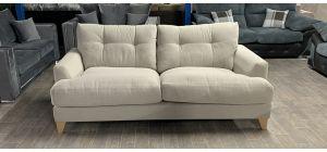 Fabric Sofa 3 Seater Cream Ex-Display Showroom Model Ex-Brighthouse Stock 46535