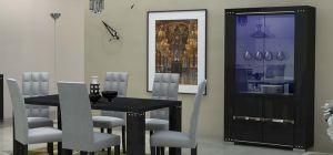Armonia Diamond Black Double Display Cabinet Assembled