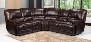 Eric Large Recliner Leathaire Corner Sofa 2C2 Brown