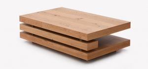 Fraser Rectangular Coffee Table Oak Veneer with Knots