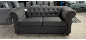 Fabric Sofa 2 Seater Grey Chesterfield Ex-Display Showroom Model Ex-Brighthouse Stock 46538