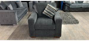 Fabric Armchair 1 Seater Dark Grey Ex-Display Showroom Model Ex-Brighthouse Stock 46532