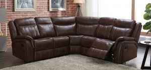 Hampton Recliner Leathaire Large Corner Sofa Tan 2C2