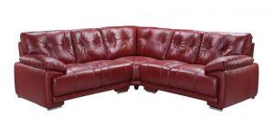 Prezzo Leathaire Large Corner Sofa 2C2 Red