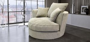 Kudos Fabric Armchair 1 Seater Beige Scatter Cushion