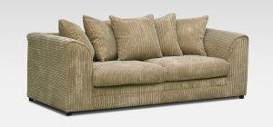 Dylan Fabric Sofa 3 Seater Coffee Jumbo Cord