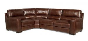 Lucca Corner LHF with Footstool Marinelli Italia Real Leather Brown Showroom Model
