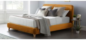 Madrid Bed Frame King 5FT Gold