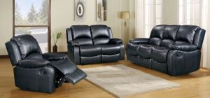 Minnesota Recliner 3 + 2 Seater Black