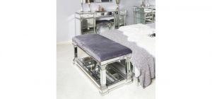 Silver Vesper Mirror Bench