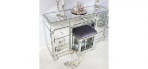Silver Vesper Mirror Stool