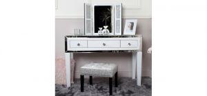 White Stamford Mirror 3 Drawer Dressing Table