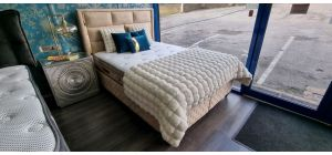 Latex Magic Bed Frame Double 4FT6 With Ottoman Storage