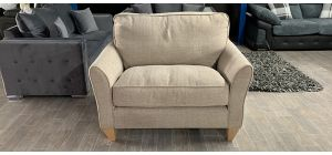 Fabric Armchair 1 Seater Beige Loveseat Ex-Display Showroom Model Ex-Brighthouse Stock 46536