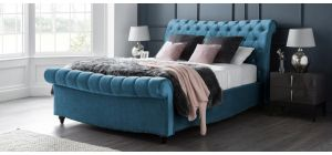 Paris Bed Frame King 5FT Peacock With Side Ottoman Storage