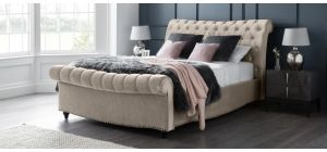 Paris Bed Frame King 5FT Putty With Side Ottoman Storage