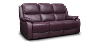Parker Leather Sofa Set 3 + 2 + 1 Seater Wine