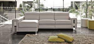 Dubai Semi Aniline Leather Corner Sofa LHF Cream Pedro Ortiz Hand Made Sofa