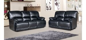 Pippa Recliner 3 + 2 Seater Black