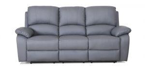 Rockford Grey Reclining 3 Seater Leather Sofa