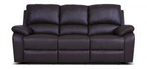 Rockford Recliner Leather Sofa 3 Seater Mocha