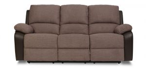 Rockford Recliner Fabric Sofa 3 Seater Brown
