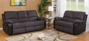 Rockford Recliner Fabric Sofa Set 3 + 2 Seater Charcoal Delivery in 5 weeks