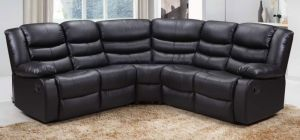 Roma Recliner Corner 2C2 Black, 21 Working Days Delivery