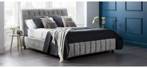 Roma Bed Frame King 5FT Grey With Front Ottoman Storage