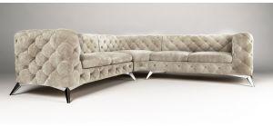 Sandringham Fabric Corner Sofa Large Cream 2C2