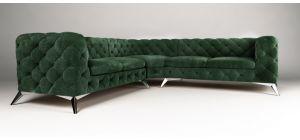 Sandringham Fabric Corner Sofa Large Green 2C2