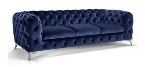 Sandringham Fabric Sofa 3 Seater Blue