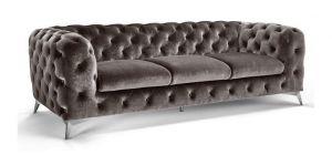 Sandringham Fabric Sofa 3 Seater Grey