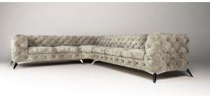 Sandringham Fabric Corner Sofa LHF Cream 2C3