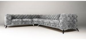 Sandringham Fabric Corner Sofa LHF Grey 2C3