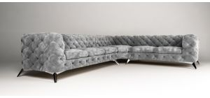 Sandringham Fabric Corner Sofa RHF Grey 3C2