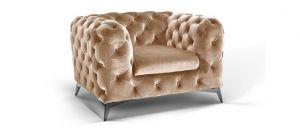 Sandringham Fabric Armchair 1 Seater Cream