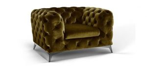 Sandringham Fabric Armchair 1 Seater Green
